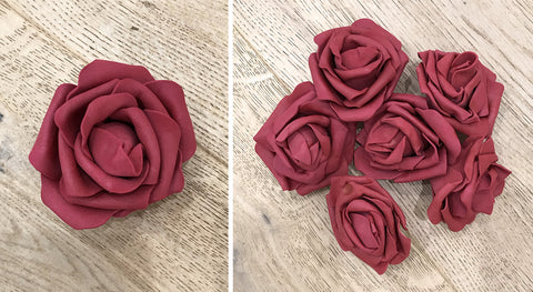 Artificial Foam Rose - Deep Red