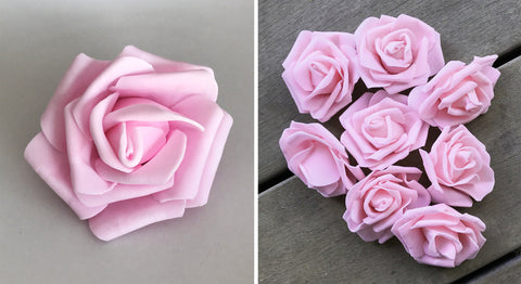 Artificial Foam Rose - Light Pink