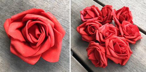 Artificial Foam Rose - Red