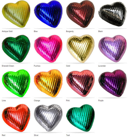 Foiled Chocolate Hearts - Pack 25