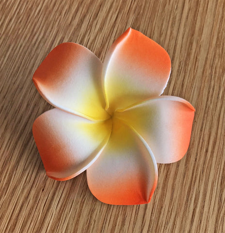 Artificial Foam Frangipani Orange/Yellow/White - 7cm