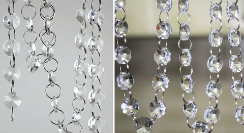 Acrylic Crystal Garland Chain - Ring Link