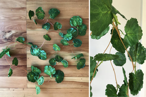 Artificial Geranium Leaf Garland 2.4m