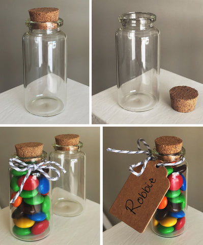 Mini Glass Bottle & Cork