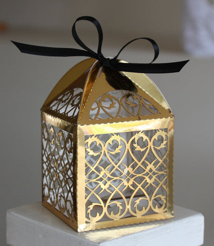 Gold Lasercut Favour Box