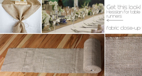 Rustic Hessian (for table runners) by the metre