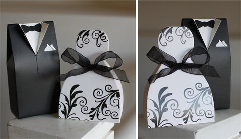 His & Hers Boxes - Damask