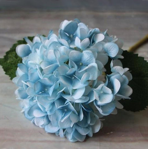 Artificial Hydrangea Stem - Blue