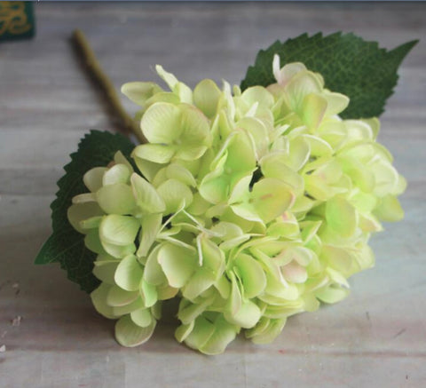 Artificial Hydrangea Stem - Green