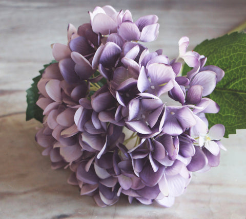 Artificial Hydrangea Stem - Purple