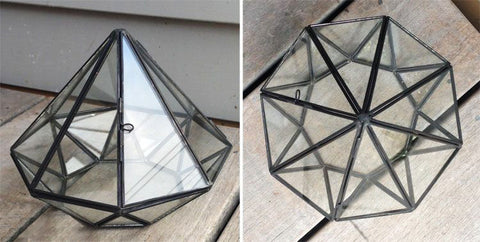 Jewel Shape Glass Terrarium
