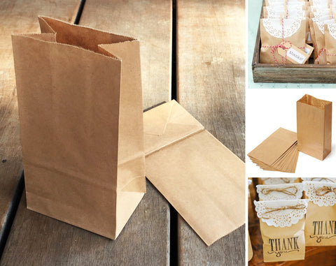 Kraft Paper Favour Bag - Plain