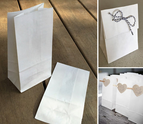 Kraft Paper Favour Bag - White