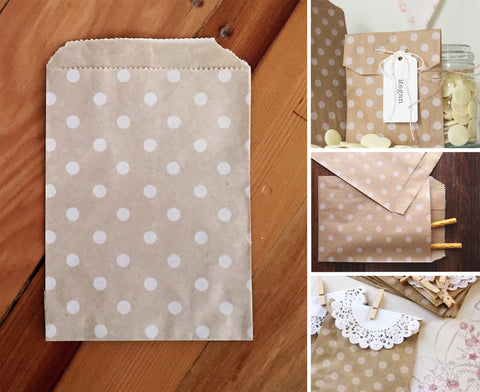 Kraft Paper Favour Bag - Dots