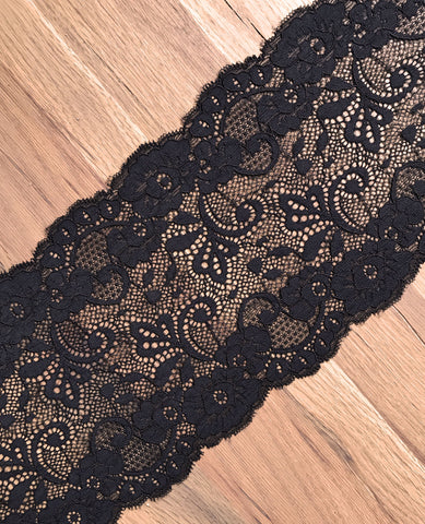 16cm Black Lace (by the metre)