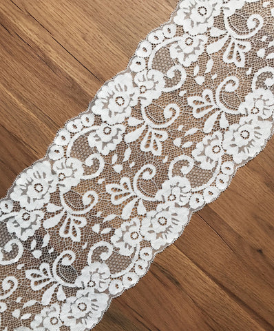 16cm White Lace (by the metre)