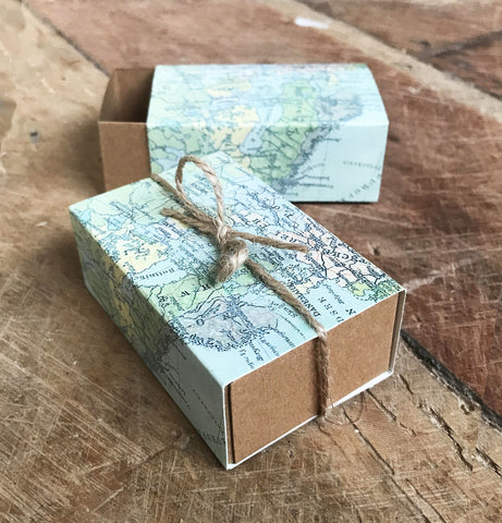 World Map Favour Box
