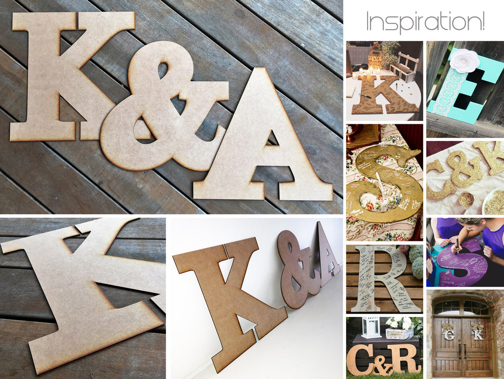 "Two MDF Letters plus ""&"" Symbol"