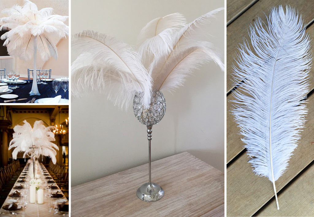 White Ostrich Feather 55-60cm
