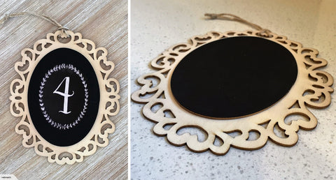 Fancy Oval Hanging Blackboard