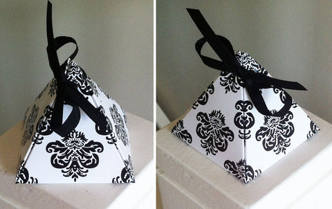 Damask Pyramid Box