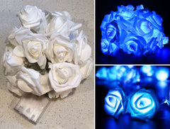 2m LED Rose Light String - Blue
