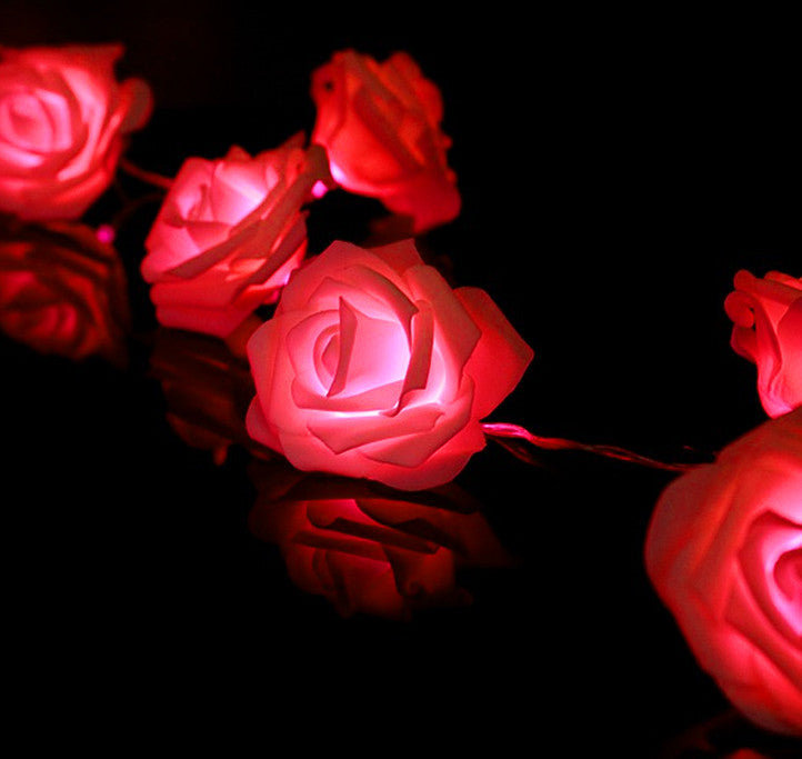 2m LED Rose Light String - Red