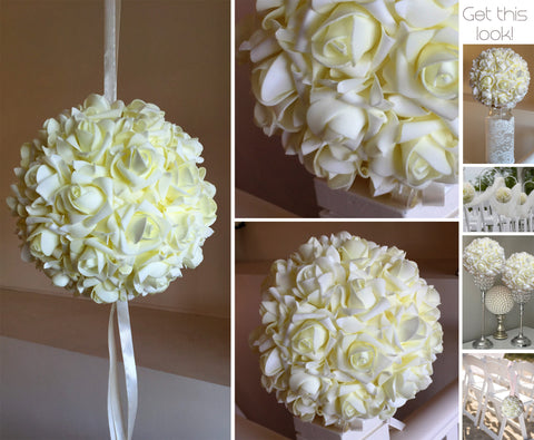 Kissing Ball 20cm - Cream