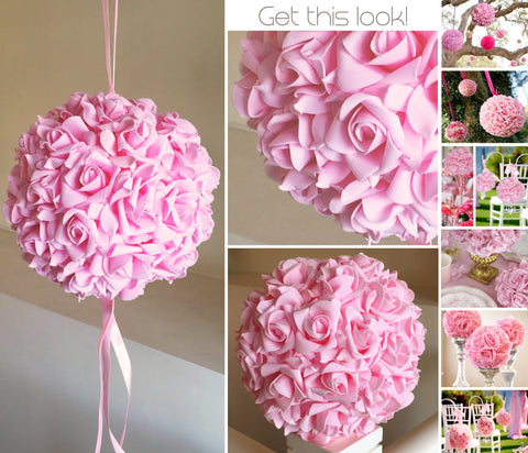 Kissing Ball 20cm - Light Pink