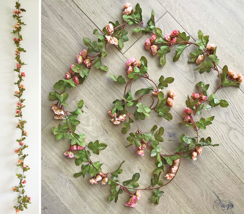 Artificial Rose Bud Garland 2.3m