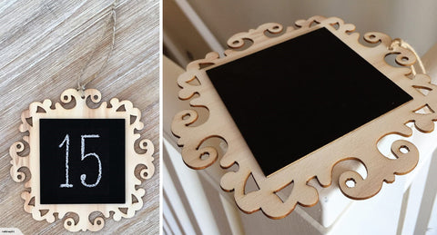 Fancy Square Hanging Blackboard