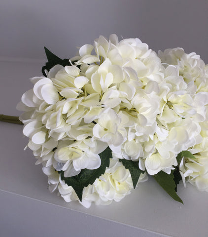 Artificial Hydrangea Stem - White