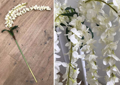 Artificial White Wisteria Stem 1.7m