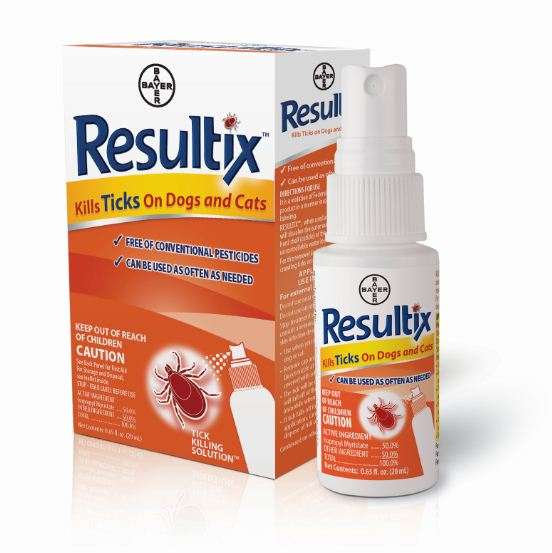 Bayer Resultix Spray on Tick Solution for Dogs and Cats