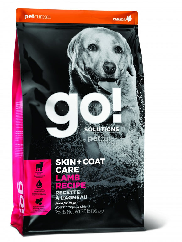 Petcurean Go! Solutions Skin + Coat Care Lamb Recipe Dry Dog Food