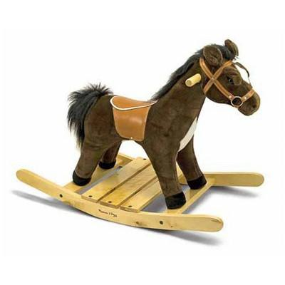 Melissa & Doug® Plush Rocking Horse - Wooden Base and Handles Plus Saddle and Harness