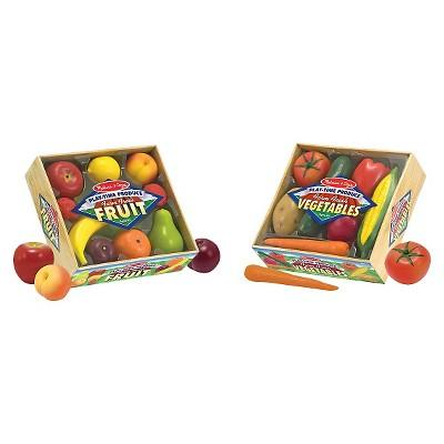 Melissa & Doug® Play-Time Produce Fruit (9pc) and Vegetables (7pc) Realistic Play Food