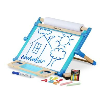 Melissa & Doug® Double-Sided Magnetic Tabletop Art Easel - Dry-Erase Board and Chalkboard