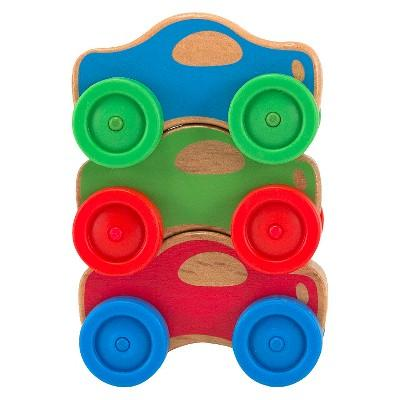 Melissa & Doug® Stacking Cars Wooden Baby Toy