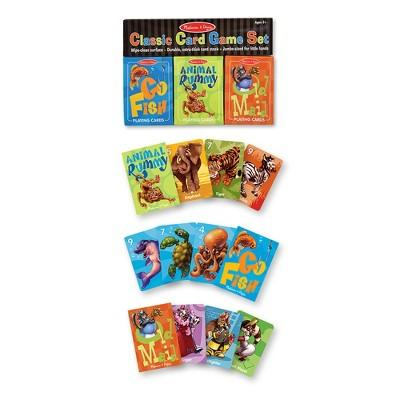 Melissa & Doug® Classic Card Games Set - Old Maid, Go Fish, Rummy