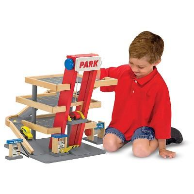 Melissa & Doug® Deluxe Wooden Parking Garage Play Set
