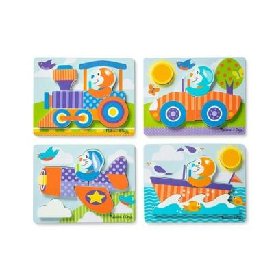 Melissa & Doug First Play 6pc Jigsaw Puzzle Set Vehicles