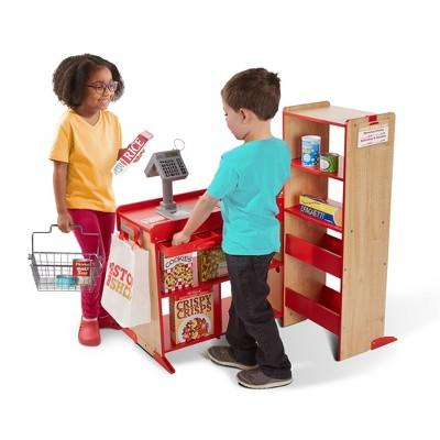 Melissa & Doug Deluxe One Stop Shop Play Store Set - 63pc