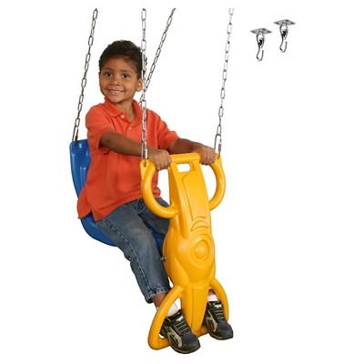 Swing-N-Slide Wind Rider with Swing Hangers - Blue & Yellow