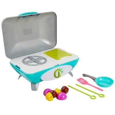 Perfectly Cute Let's Get Cooking Reversible Stovetop and Grill with Realistic Sounds