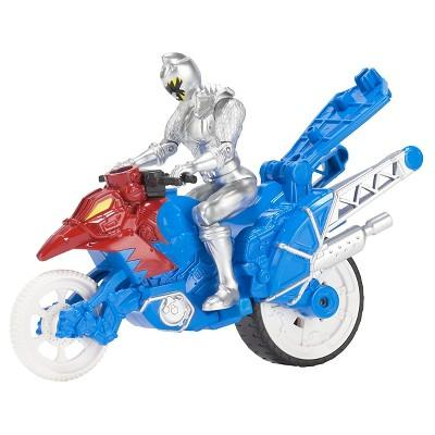 Power Rangers Dino Super Charge - Dino Stunt Bike and Silver Ranger