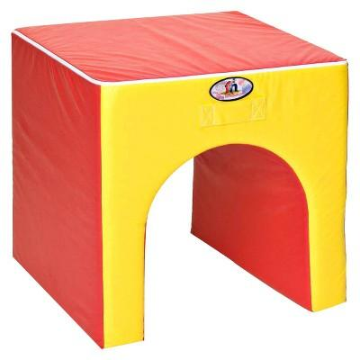 foamnasium™ Tunnel/Table Play Furniture - Red/ Yellow