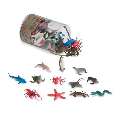 Miniature Sea Animal World in a Tube (60 pcs)