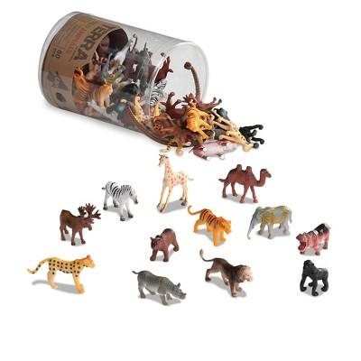 Miniature Wild Animal World in a Tube (60 pcs)