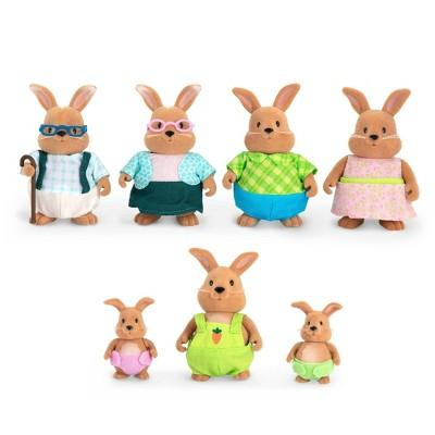 Li'l Woodzeez Large Rabbit Family Grandparent Set